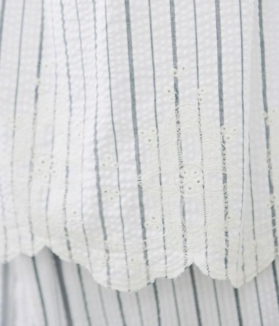 ロペピクニック | 【TIME SALE】【50TH SPECIAL COLLECTION】【2WAY】裾刺繍オフショルダーブラウス - 5