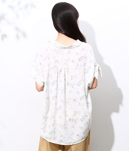 ロペピクニック | 花柄ヒラリボンシャツ - 3