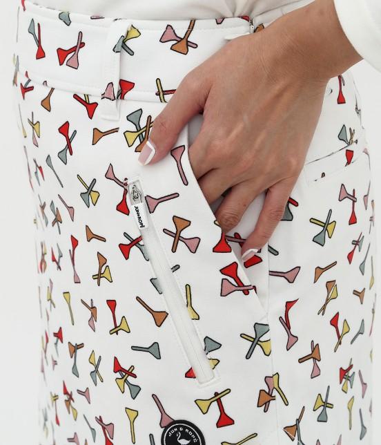 ジュン アンド ロペ | ティプリントパンツ一体型スカート - 4