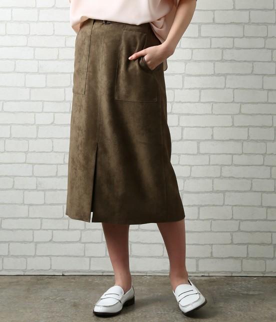 サロン アダム エ ロペ ウィメン | 【先行予約】CAPスウェードタイトスカート | ブラウン系