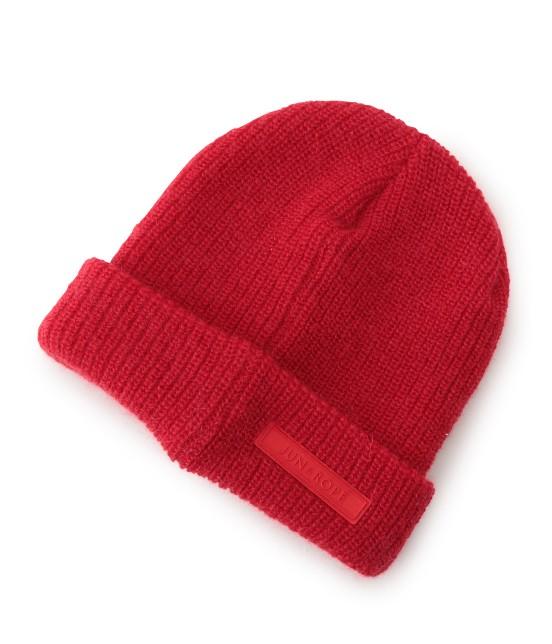 ジュン アンド ロペ | ワンポイントワッペン付きニット帽 - 4