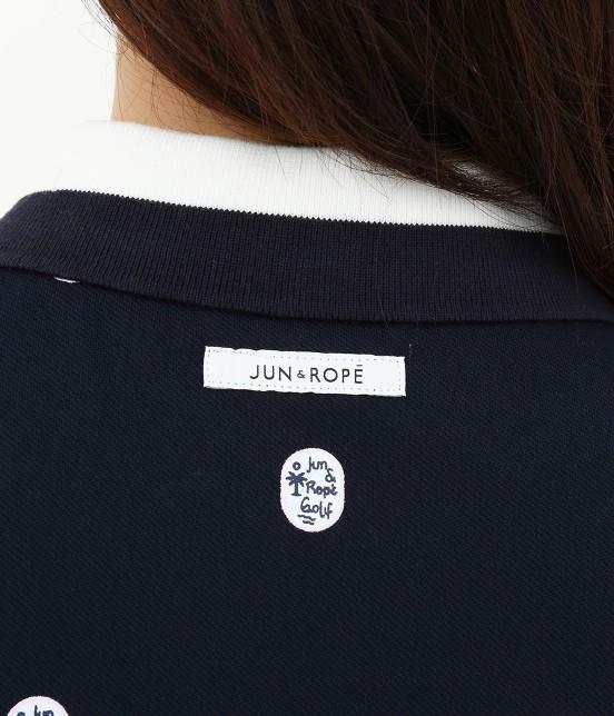 ジュン アンド ロペ   【UV CUT】【吸水速乾】【接触冷感】ワッペン柄プリントポロシャツ - 7