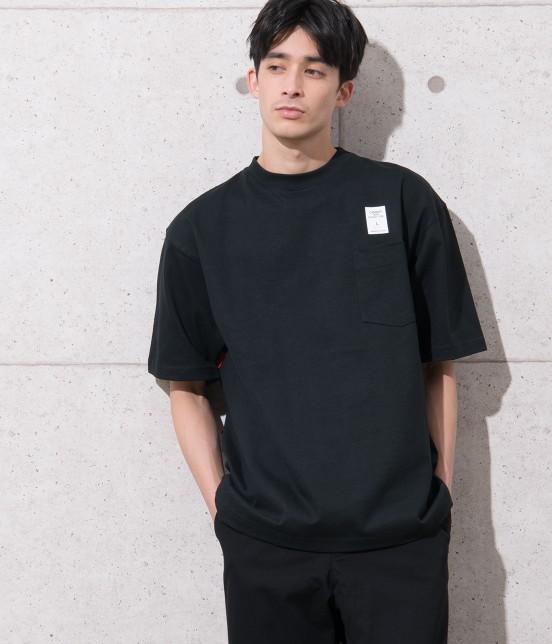 アダム エ ロペ オム | 【CAMBER for ADAM ET ROPE'】FAKE PRINT Tシャツ | ブラック