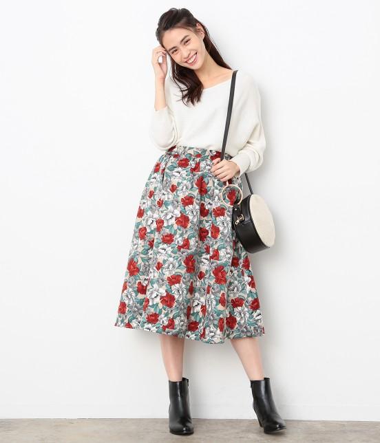 ビス | 【sweet11月号掲載】【sweet×ViSコラボ】フラワープリントスカート - 8