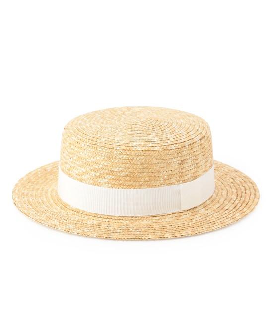 サロン アダム エ ロペ ウィメン | 【田中帽子×SALON】カンカン帽(太麦) | ホワイト