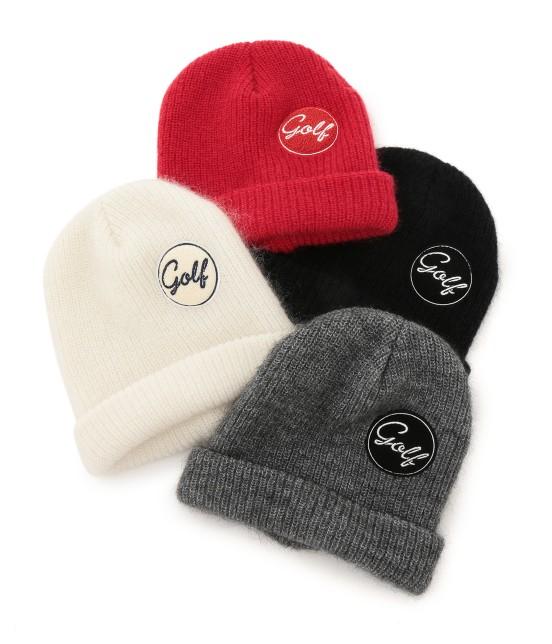 ジュン アンド ロペ | ワンポイントワッペン付きニット帽