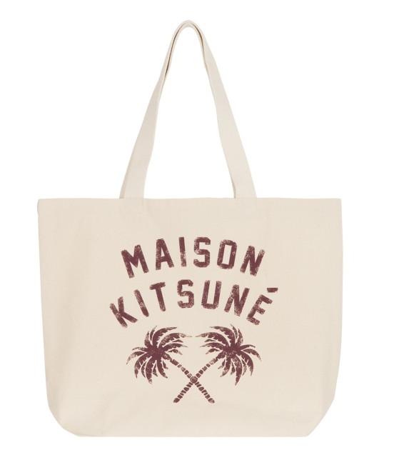 MAISON KITSUNÉ MEN | TOTE BAG PALMTREE | ホワイト系
