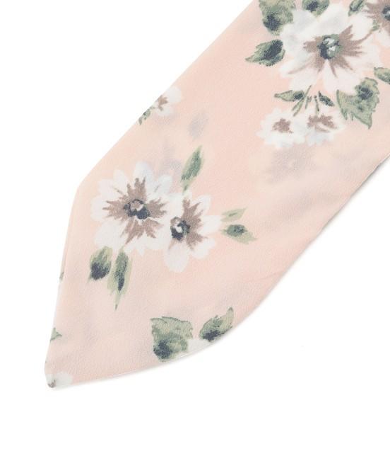 ビス | 花柄ナロースカーフ - 1
