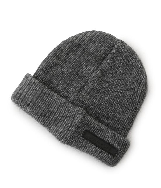 ジュン アンド ロペ | ワンポイントワッペン付きニット帽 - 2