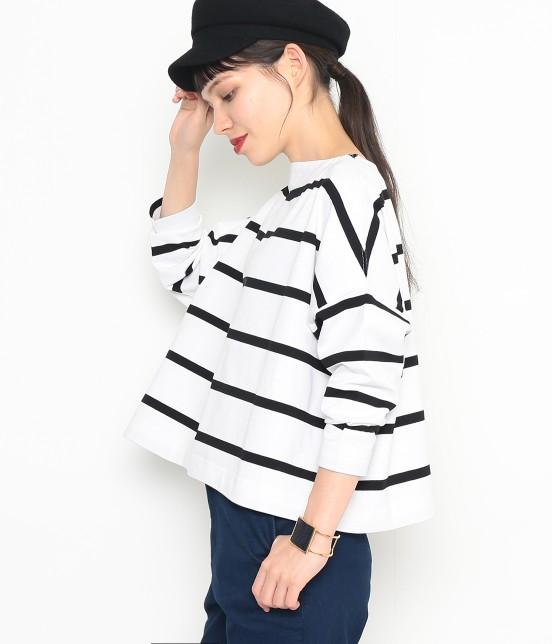 アダム エ ロペ ファム | 【Traditional Weatherwear】 ビッグマリンボートネックシャツ