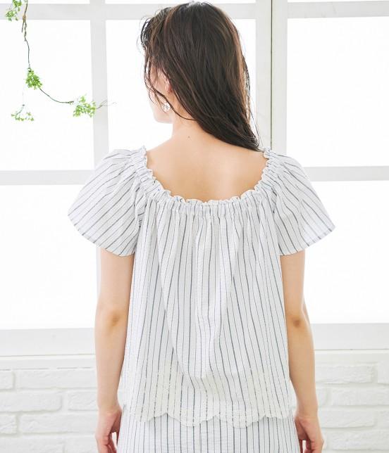 ロペピクニック | 【TIME SALE】【50TH SPECIAL COLLECTION】【2WAY】裾刺繍オフショルダーブラウス - 2