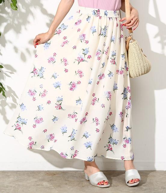 ロペピクニック | 【セットアップ対応】花柄マキシスカート