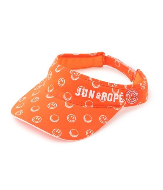 ジュン アンド ロペ   スマイル柄プリントバイザー   オレンジ