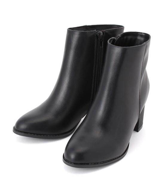 ロペピクニックパサージュ   【街ピク着用アイテム ROPE' PICNIC×MERY】【WEB限定35.40サイズ】メタルヒールミドル丈ブーツ   ブラック