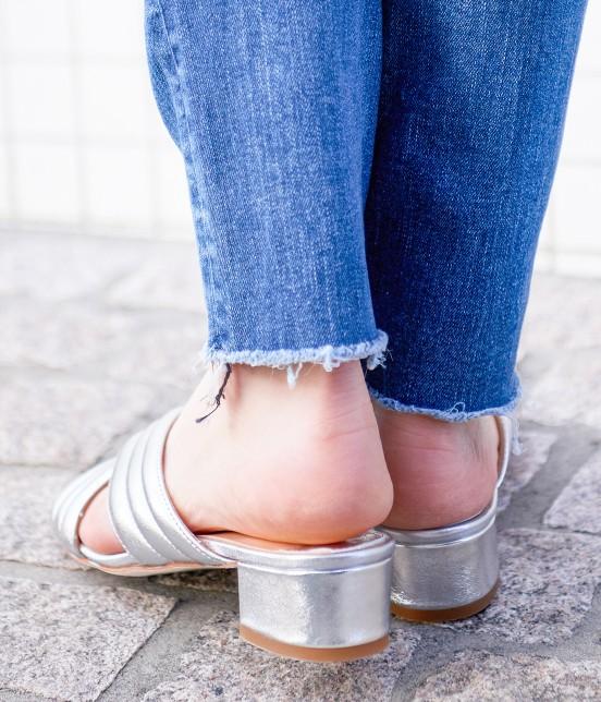 アダム エ ロペ ファム | 【FABIO RUSCONI】Metalic Sandals - 4