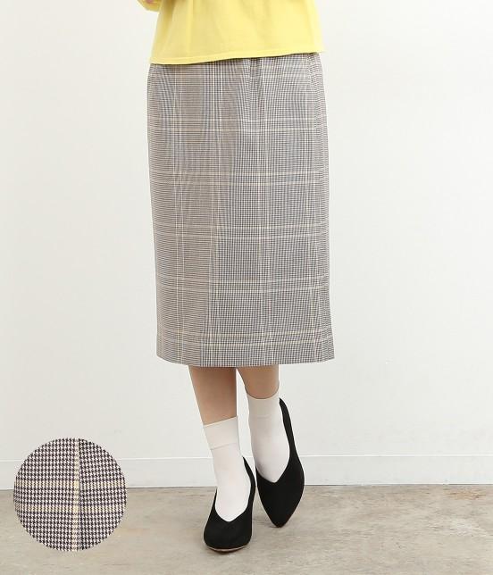 ロペピクニック   【TIMESALE】カラーチェックAラインスカート   イエロー系