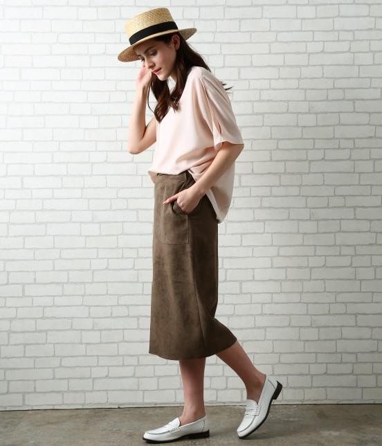サロン アダム エ ロペ ウィメン | 【先行予約】CAPスウェードタイトスカート - 9