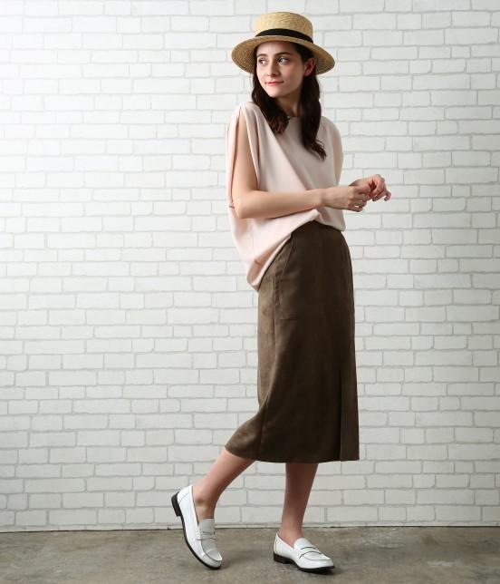 サロン アダム エ ロペ ウィメン | 【先行予約】CAPスウェードタイトスカート - 8