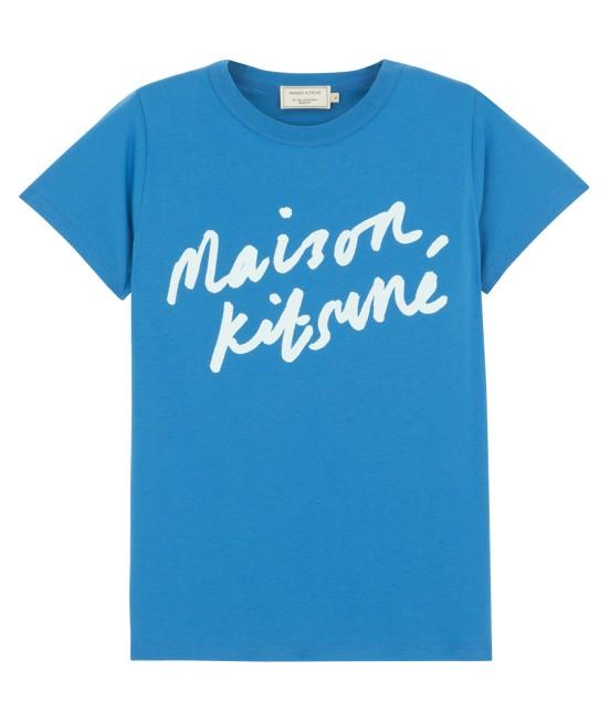 MAISON KITSUNÉ WOMEN | T SHIRT HANDWRITING | ブルー系