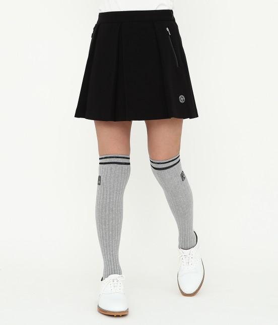 ジュン アンド ロペ | ミラノリブタックプリーツスカート | ブラック