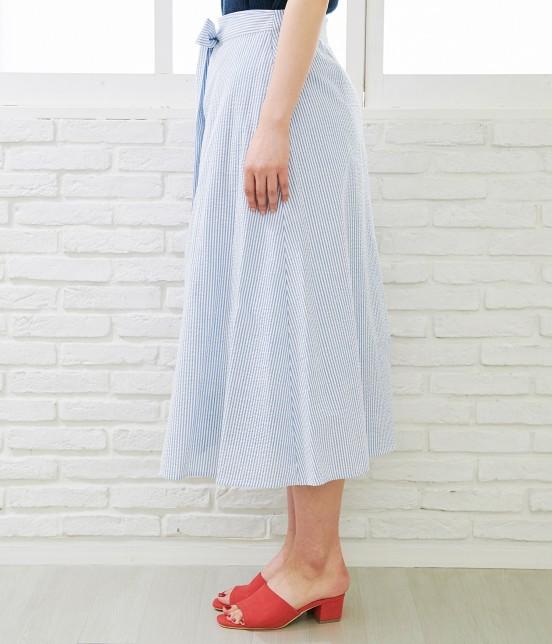 ロペピクニック   【50TH SPECIAL COLLECTION】無地/ストライプ裾刺繍スカート - 1