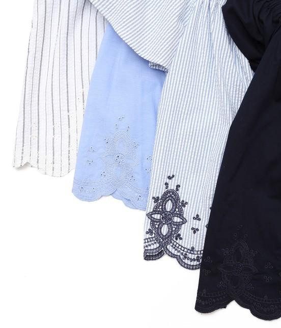 ロペピクニック | 【TIME SALE】【50TH SPECIAL COLLECTION】【2WAY】裾刺繍オフショルダーブラウス - 8