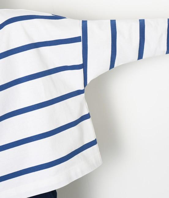 アダム エ ロペ ファム | 【Traditional Weatherwear】 ビッグマリンボートネックシャツ - 8