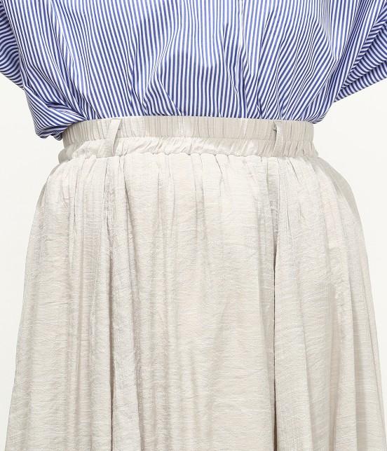 ビス | 【ただいまセール開催中】【SET】ベルト付きスラブローンギャザースカート - 5