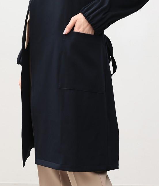 ビス | タックボリューム袖コート - 5