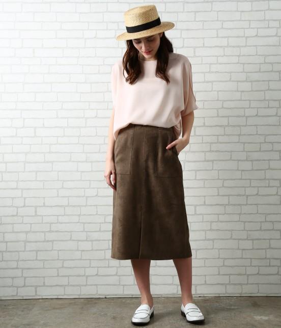サロン アダム エ ロペ ウィメン | 【先行予約】CAPスウェードタイトスカート - 7