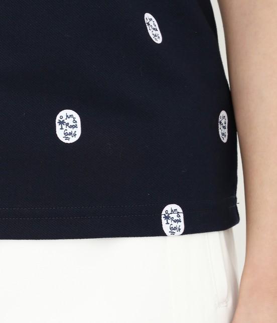 ジュン アンド ロペ   【UV CUT】【吸水速乾】【接触冷感】ワッペン柄プリントポロシャツ - 5