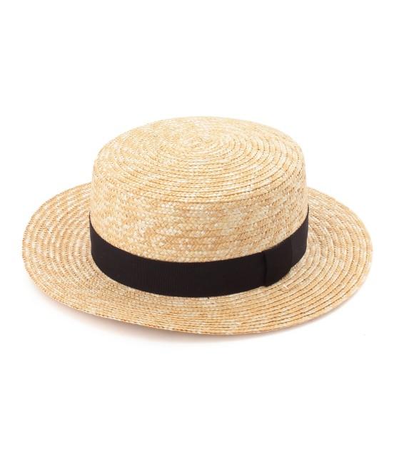 サロン アダム エ ロペ ウィメン | 【田中帽子×SALON】カンカン帽(太麦) | ブラック