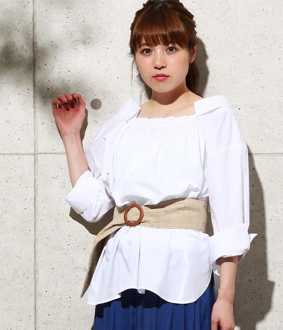 ロペピクニック | 【2WAY】先染め七分袖シャツ | ホワイト