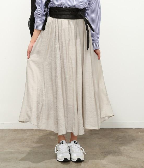 ビス | 【ただいまセール開催中】【SET】ベルト付きスラブローンギャザースカート - 6
