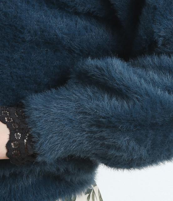 ロペピクニック | 【sweet11月号掲載・佐藤栞里さん着用アイテム】【2WAY】フェザーニットトップスカーディガン - 4