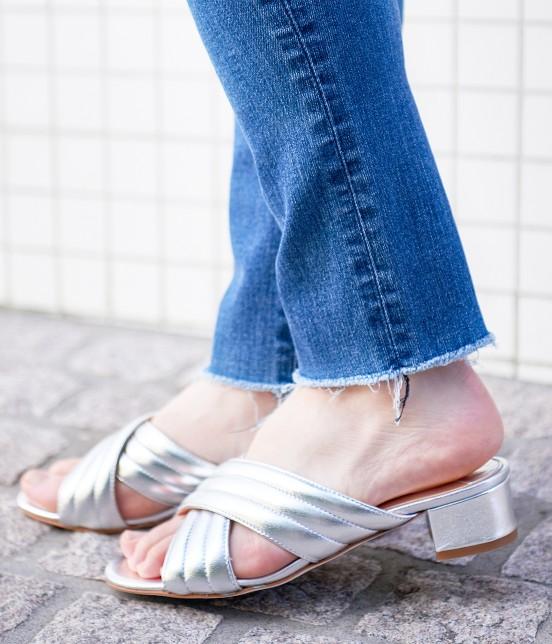 アダム エ ロペ ファム   【FABIO RUSCONI】Metalic Sandals - 3