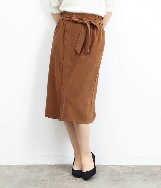 ロペピクニック | 【HAPPY PRICE】ベロアタッチアイラインスカート | キャメル