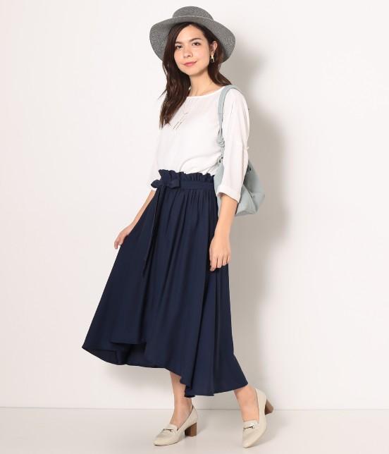 ロペピクニック | 【HIRARI COLLECTION】ヴィンテージサテンスカート - 8