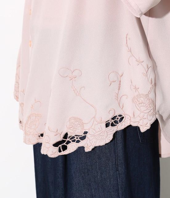ロペピクニック | 裾刺繍スキッパーブラウス - 7