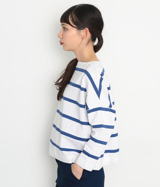 アダム エ ロペ ファム | 【Traditional Weatherwear】 ビッグマリンボートネックシャツ - 4