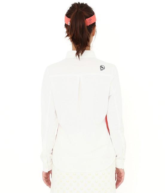 ジュン アンド ロペ | MILLION ICE 配色長袖ポロシャツ - 2