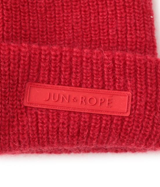ジュン アンド ロペ | ワンポイントワッペン付きニット帽 - 5