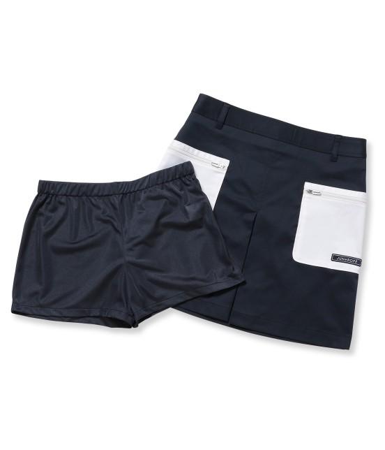 ジュン アンド ロペ | 【透け防止】【吸水速乾】【UVカット】配色ポケットボックスプリーツスカート - 8