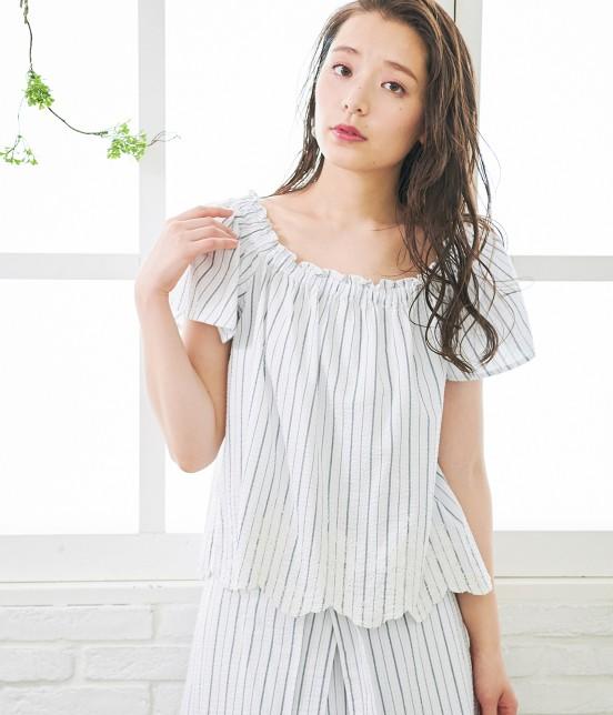 ロペピクニック | 【TIME SALE】【50TH SPECIAL COLLECTION】【2WAY】裾刺繍オフショルダーブラウス - 6