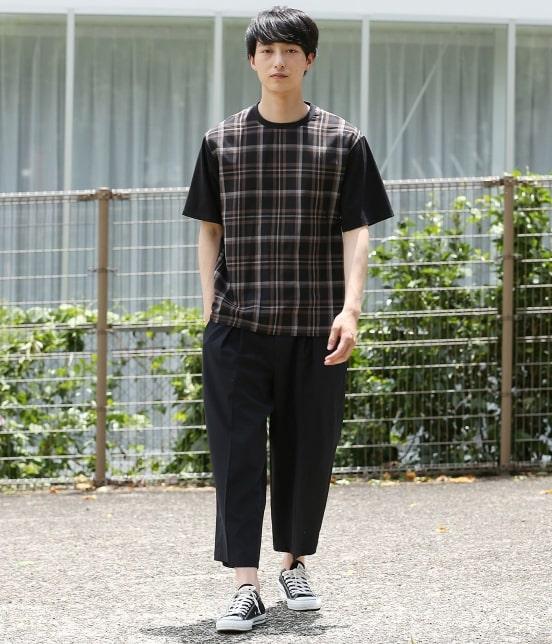 ジュンレッド   【予約】チェック布帛切替プルオーバーT - 6