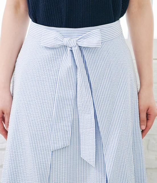 ロペピクニック   【50TH SPECIAL COLLECTION】無地/ストライプ裾刺繍スカート - 3