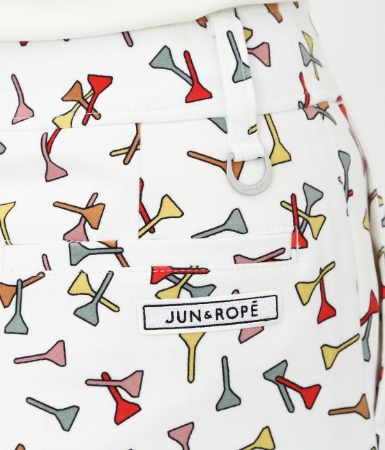 ジュン アンド ロペ | ティプリントパンツ一体型スカート - 8