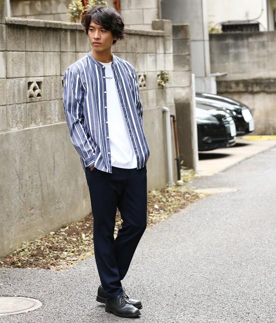 ジュンレッド   【トレンドアイテム】バンドカラーシャツ - 9