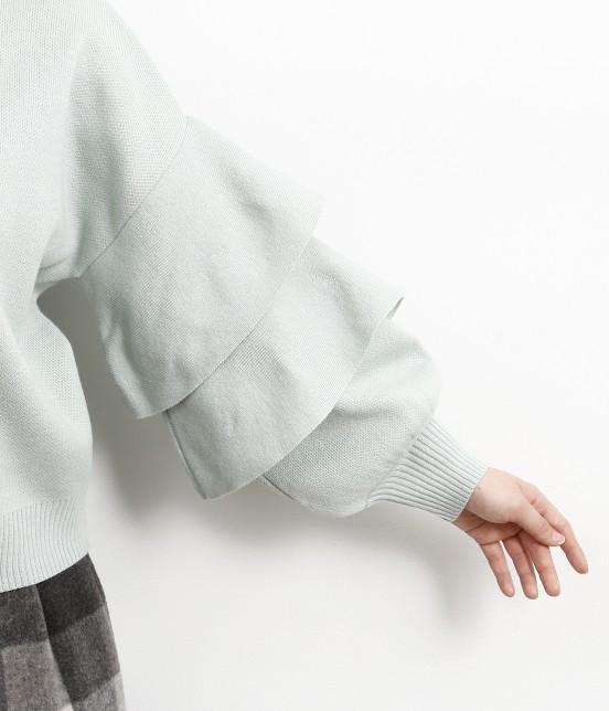 ロペピクニック | 【WEB限定】袖フリルニットプルオーバー - 5
