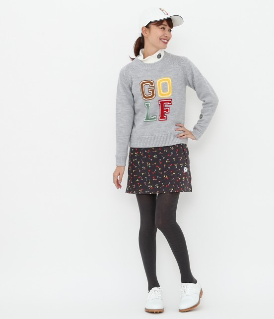 ジュン アンド ロペ | ティプリントパンツ一体型スカート - 10